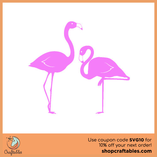 Free flamingo SVG Cut File for Cricut, Silhouette, Illustrator, inkscape, t shirts