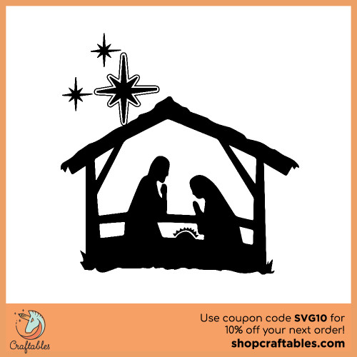 Free nativity SVG Cut File for Cricut, Silhouette, Illustrator, inkscape, t shirts