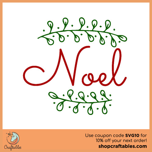 Free Noel Christmas SVG Cut File for Cricut, Silhouette, Illustrator, inkscape, t shirts