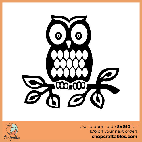 Free Owl SVG Cut File for Cricut, Silhouette, Illustrator, inkscape, t shirts