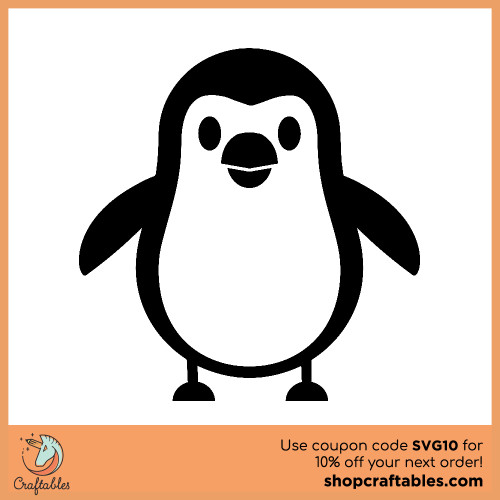 Free Penguin SVG Cut File for Cricut, Silhouette, Illustrator, inkscape, t shirts