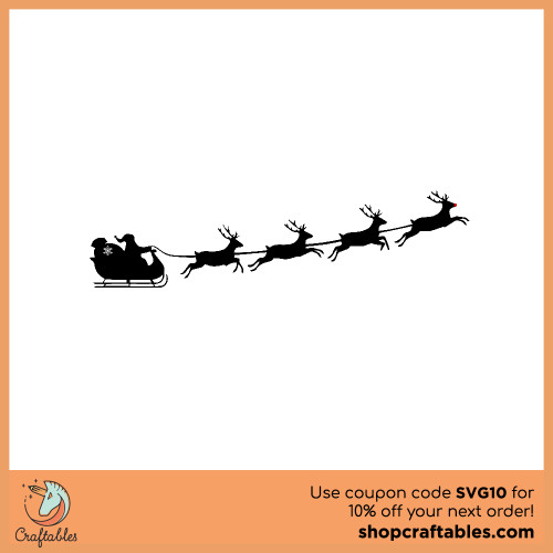 Free santa sleigh SVG Cut File for Cricut, Silhouette, Illustrator, inkscape, t shirts