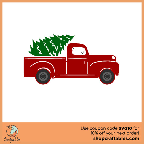 Free Tree Truck SVG Cut File for Cricut, Silhouette, Illustrator, inkscape, t shirts