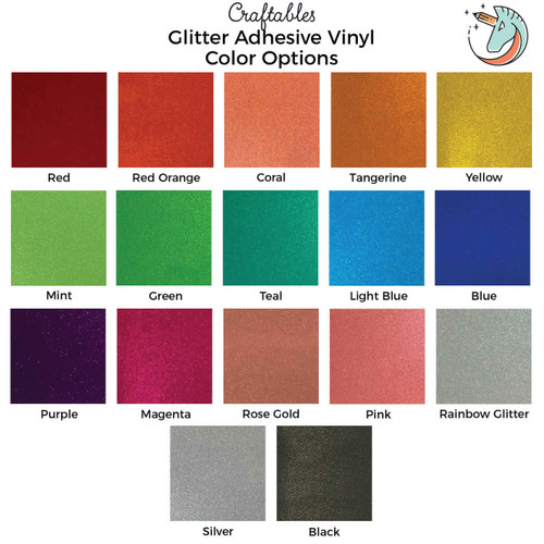 Glitter Vinyl Sheets for Cricut, Silhouette | Translucent Permanent Adhesive Vinyl By Craftables