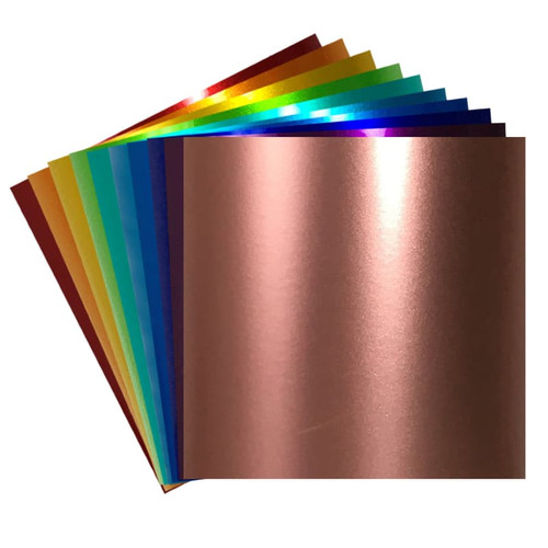 Metallic Adhesive Vinyl Sheets for Cricut, Silhouette | Permanent Vinyl By Craftables