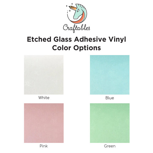 Etched Glass Vinyl Sheets for Cricut, Silhouette | Permanent Adhesive Vinyl By Craftables