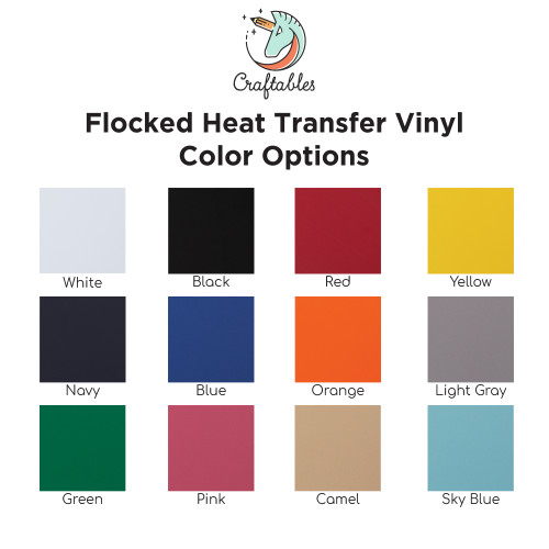 Flocked HTV Vinyl | Flock Iron on Vinyl for Cricut, Silhouette By Craftables