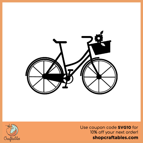 Free Bicycle SVG Cut File for Cricut, Silhouette, Illustrator, inkscape, t shirts