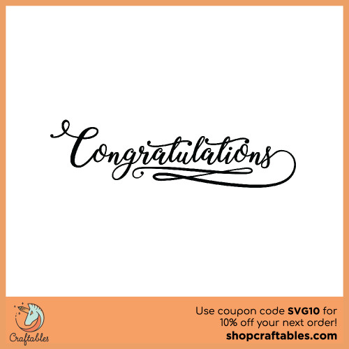 Free Congratulations SVG Cut File for Cricut, Silhouette, Illustrator, inkscape, t shirts