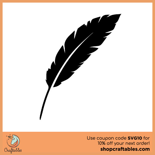 Free Feather SVG Cut File for Cricut, Silhouette, Illustrator, inkscape, t shirts