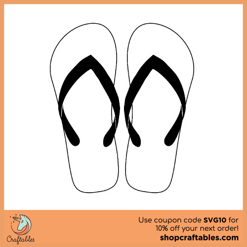Free Flip Flops SVG Cut File for Cricut, Silhouette, Illustrator, inkscape, t shirts