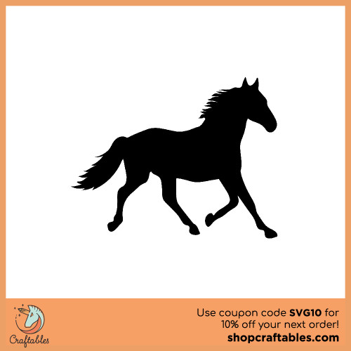 Free Horse SVG Cut File for Cricut, Silhouette, Illustrator, inkscape, t shirts