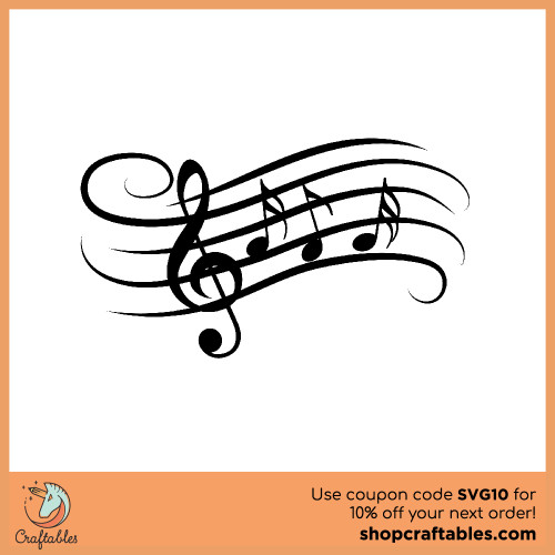 Free Music Note SVG Cut File for Cricut, Silhouette, Illustrator, inkscape, t shirts