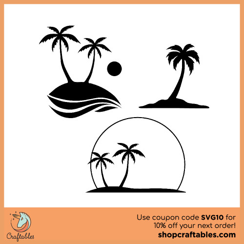 Free Palm Tree SVG Cut File for Cricut, Silhouette, Illustrator, inkscape, t shirts