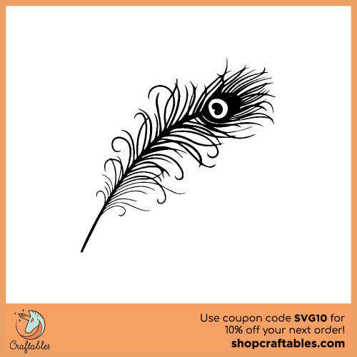 Free Peacock Feather SVG Cut File for Cricut, Silhouette, Illustrator, inkscape, t shirts