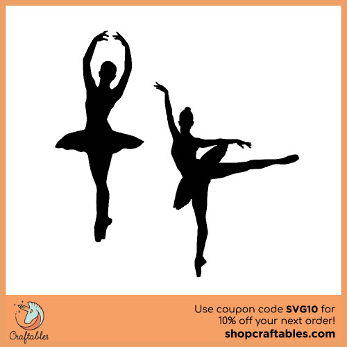 Free Ballerina  SVG Cut File for Cricut, Silhouette, Illustrator, inkscape, t shirts