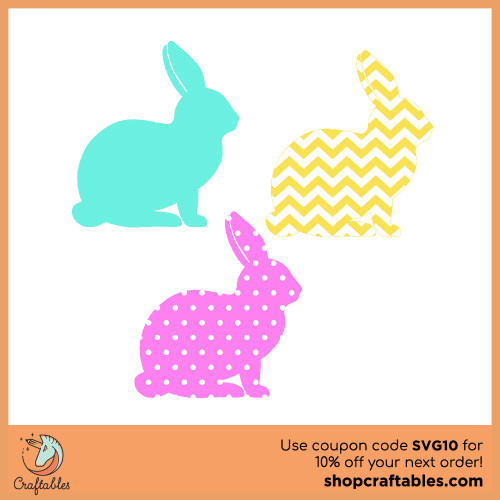 Free Bunny  SVG Cut File for Cricut, Silhouette, Illustrator, inkscape, t shirts