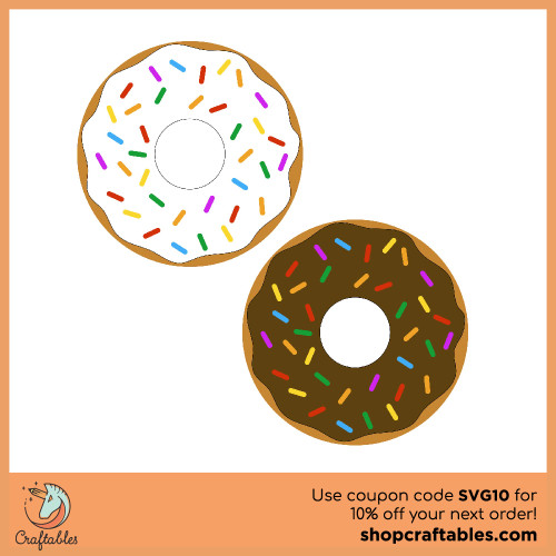 Free Donut  SVG Cut File for Cricut, Silhouette, Illustrator, inkscape, t shirts