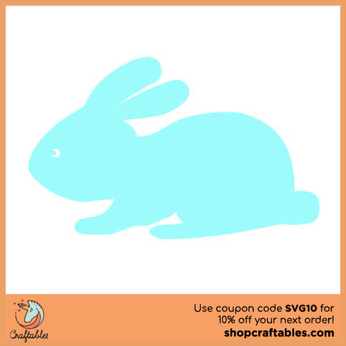 Free Easter Bunny  SVG Cut File
