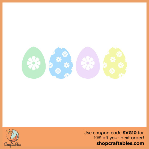 Free Easter Egg  SVG Cut File for Cricut, Silhouette, Illustrator, inkscape, t shirts