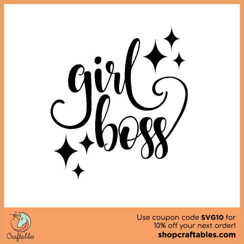 Free Girl Boss  SVG Cut File for Cricut, Silhouette, Illustrator, inkscape, t shirts
