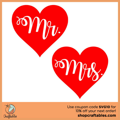 Free Mr And Mrs  SVG Cut File for Cricut, Silhouette, Illustrator, inkscape, t shirts