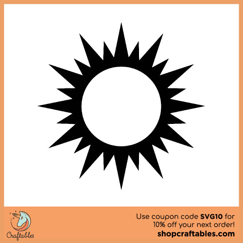 Free Sun  SVG Cut File for Cricut, Silhouette, Illustrator, inkscape, t shirts