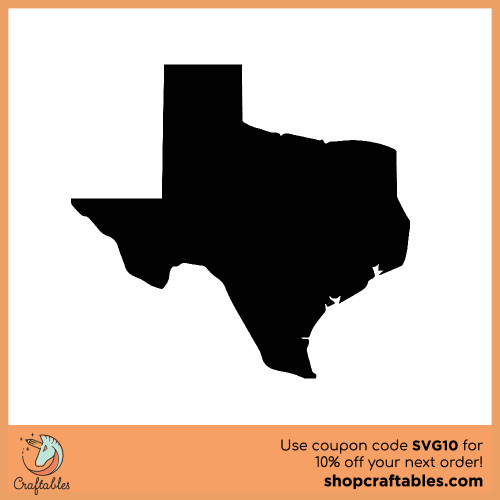 Free Texas  SVG Cut File for Cricut, Silhouette, Illustrator, inkscape, t shirts