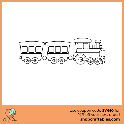 Free Train  SVG Cut File for Cricut, Silhouette, Illustrator, inkscape, t shirts