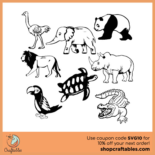Free Zoo Animals  SVG Cut File for Cricut, Silhouette, Illustrator, inkscape, t shirts