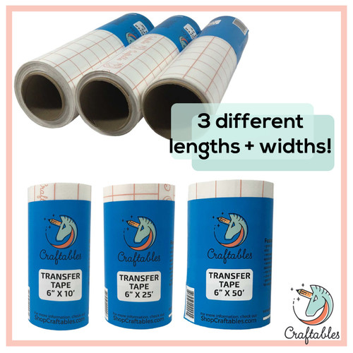 Clear Vinyl Transfer Tape Roll With Alignment Grid And Easy Release Paper By Craftables