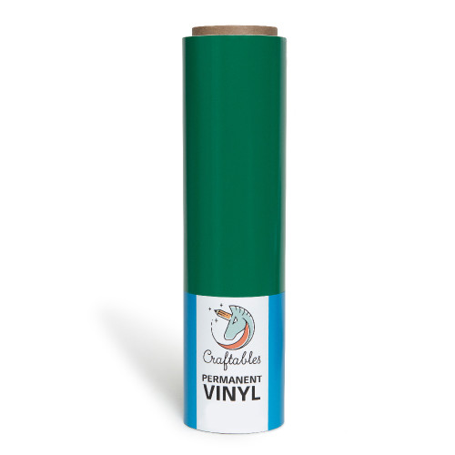 Green Vinyl for Cricut | Permanent, Outdoor Adhesive Vinyl Roll | 12in X 10ft By Craftables