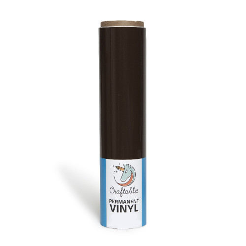 Brown Vinyl for Cricut | Permanent, Outdoor Adhesive Vinyl Roll | 12in X 10ft By Craftables
