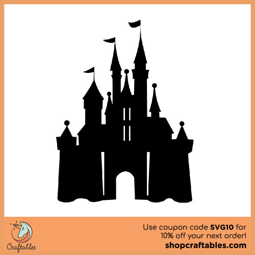 Free Magic Castle SVG Cut File for Cricut, Silhouette, Illustrator, inkscape, t shirts