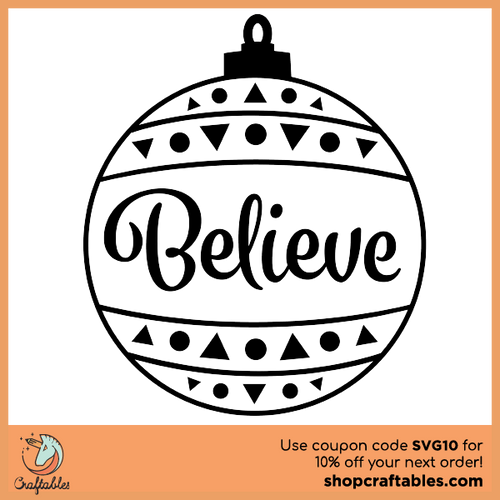 Free Believe SVG Cut File for Cricut, Silhouette, Illustrator, inkscape, t shirts