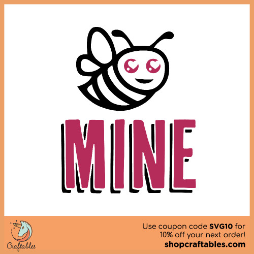 Free Bee Mine SVG Cut File for Cricut, Silhouette, Illustrator, inkscape, t shirts