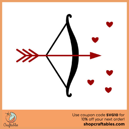 Free Bow and Arrow SVG Cut File for Cricut, Silhouette, Illustrator, inkscape, t shirts