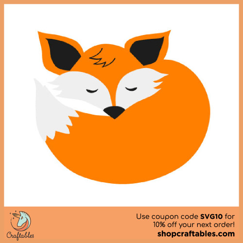 Free Fox SVG Cut File for Cricut, Silhouette, Illustrator, inkscape, t shirts