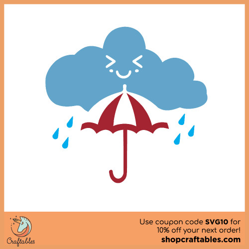Free Rain Cloud SVG Cut File for Cricut, Silhouette, Illustrator, inkscape, t shirts