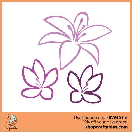 Free Tropical Flowers SVG Cut File for Cricut, Silhouette, Illustrator, inkscape, t shirts