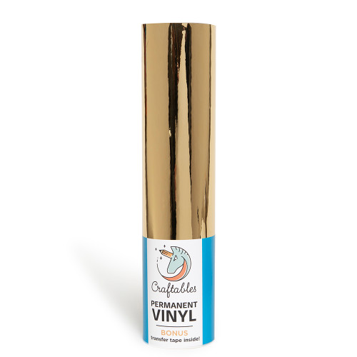 Gold Chrome Adhesive Vinyl Rolls-12in.x10ft By Craftables