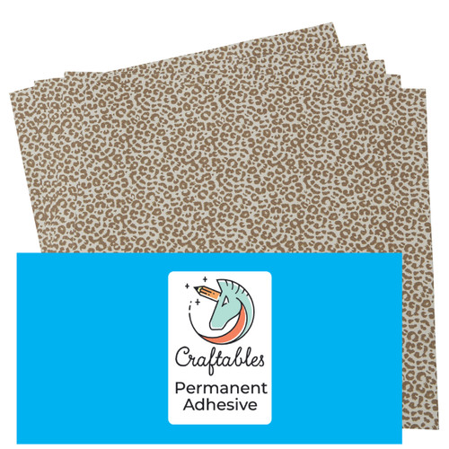 Craftables Patterned Adhesive Leopard Print