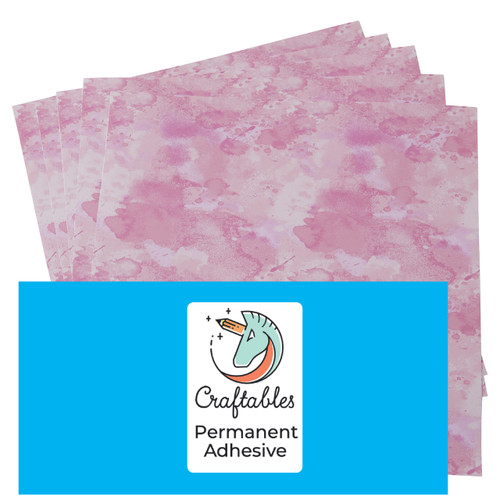 Craftables Patterned Adhesive Watercolor Print