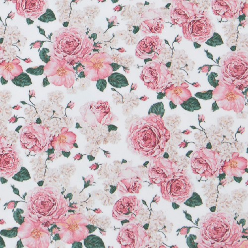 Craftables Pattern Heat Transfer Vinyl Rose Floral Print