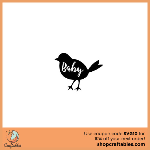 Free Baby Bird SVG Cut File for Cricut, Silhouette, Illustrator, inkscape, t shirts