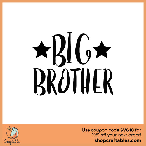 Free Big Brother SVG Cut File for Cricut, Silhouette, Illustrator, inkscape, t shirts