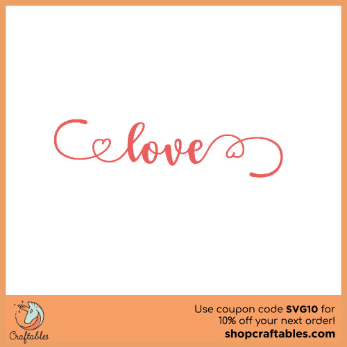 Free Love Script SVG Cut File for Cricut, Silhouette, Illustrator, inkscape, t shirts