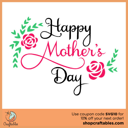 Free Mother's Day SVG Cut File for Cricut, Silhouette, Illustrator, inkscape, t shirts