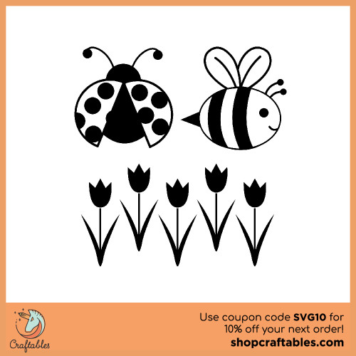 Free Spring Time SVG Cut File for Cricut, Silhouette, Illustrator, inkscape, t shirts