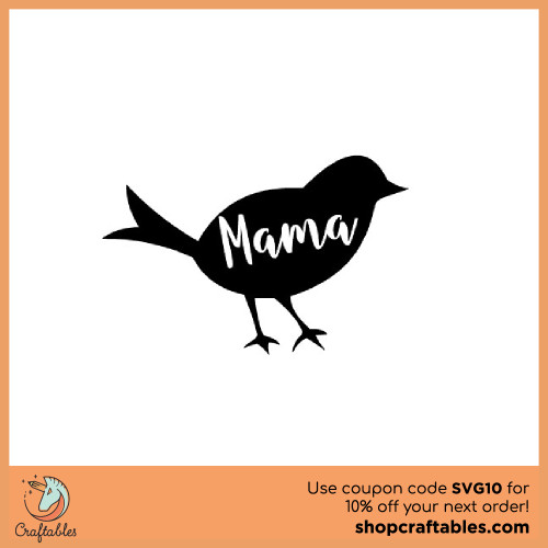 Free Mama Bird SVG Cut File for Cricut, Silhouette, Illustrator, inkscape, t shirts